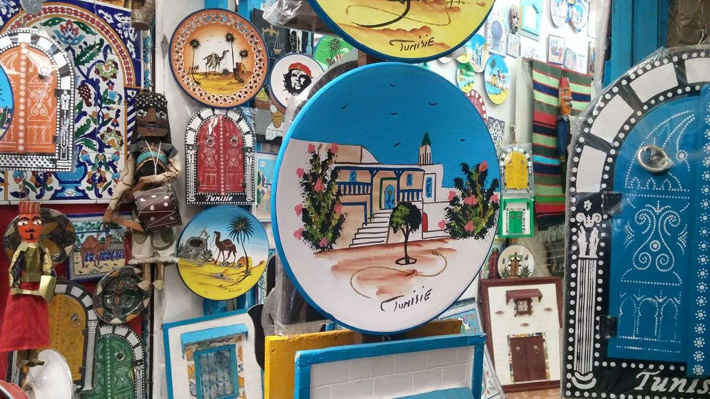Souvenirs at the Tunis Medina