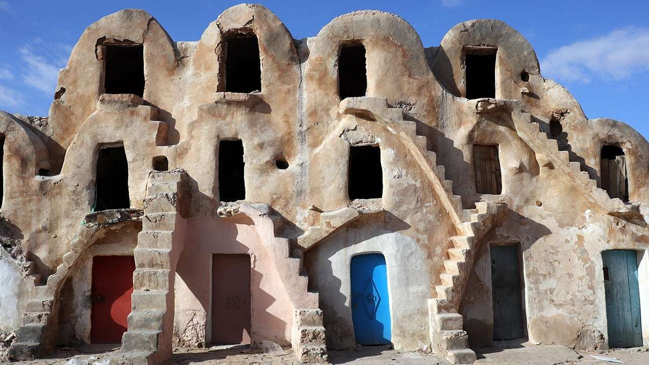 Star Wars Mos Espa Slave Quarters at Ksar Medenine