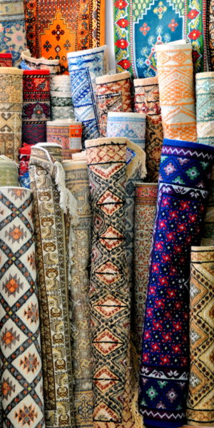 Tunisian carpets for sale at the souk