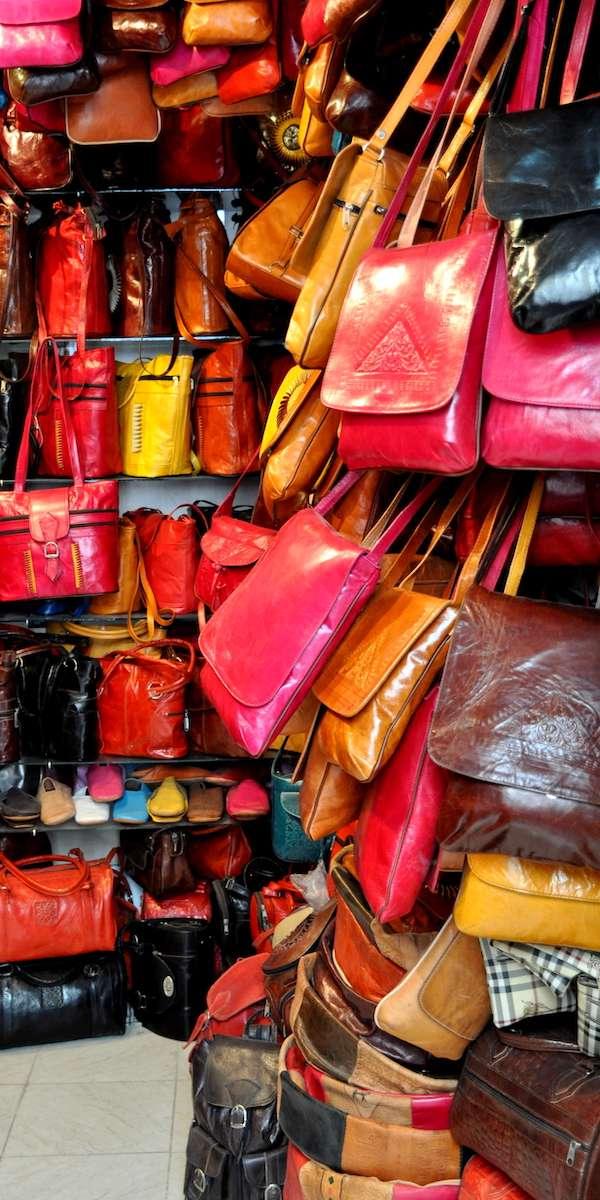 Tunisian Leather Bags at the Souk