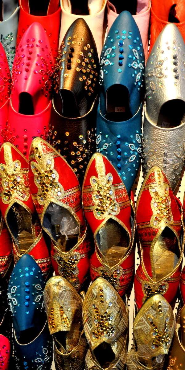 Tunisian Leather Shoes at the Souk